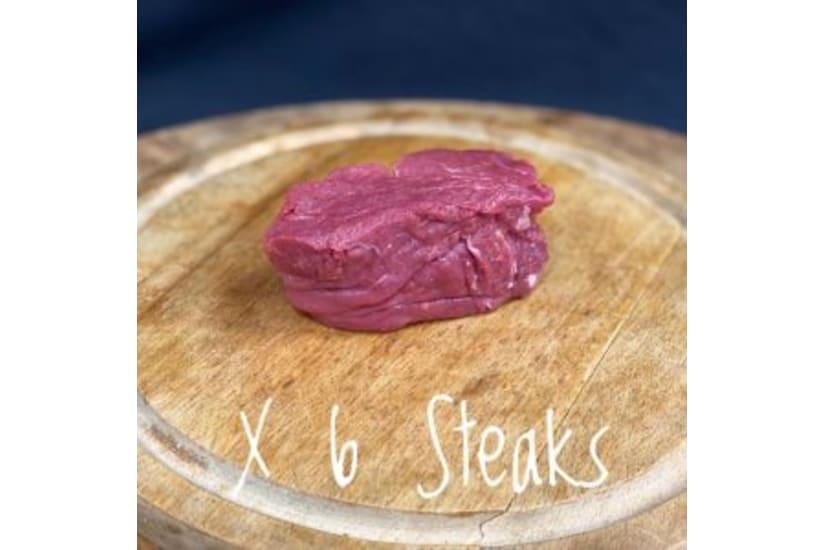 Case of 6 Gold Star Awarded Rose Veal Fillet Steak