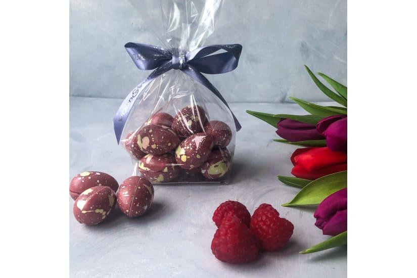 Hand Painted Ruby & Raspberry Mini Chocolate Eggs
