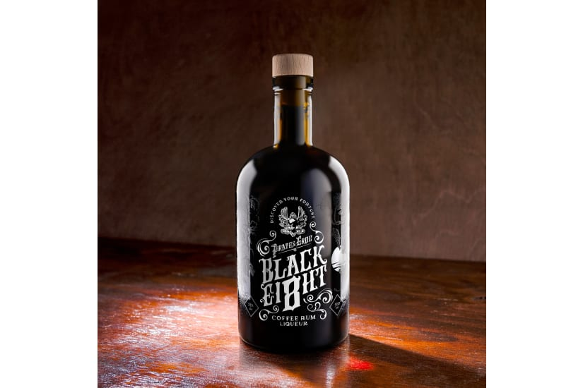 Pirate's Grog Black Ei8ht Coffee Rum Liqueur