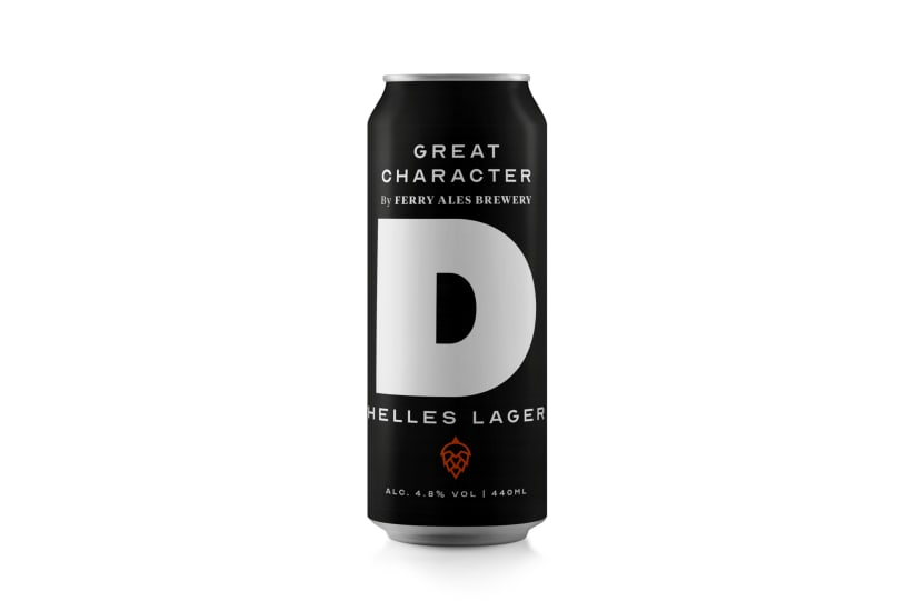 """Great Character """"D"""" Helles Lager case of 12 x 440ml Cans"""