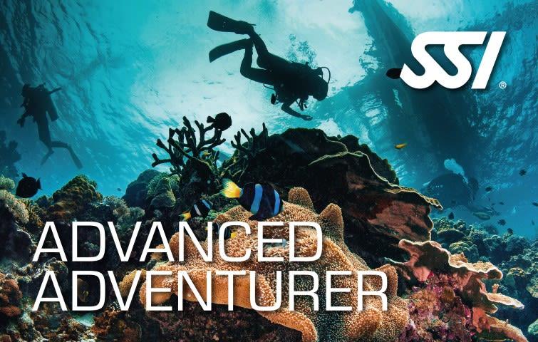 продолжить обучение Advanced Scuba Training Advanced Adventurer Course