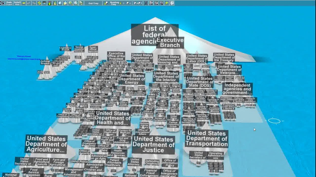 3D Topicscape Screenshot