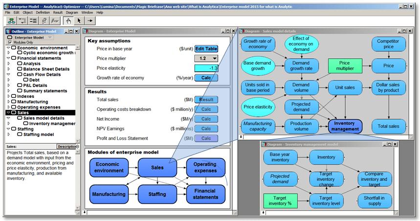 Analytica Screenshot