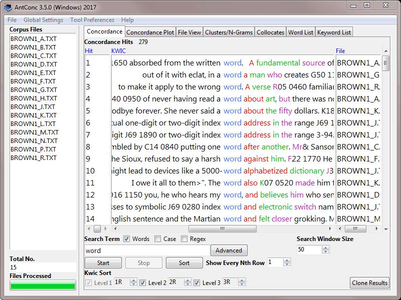 AntConc Screenshot