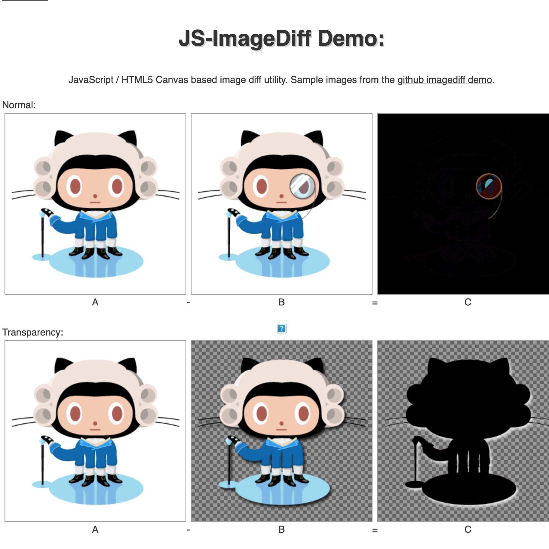 JS-ImageDiff Screenshot