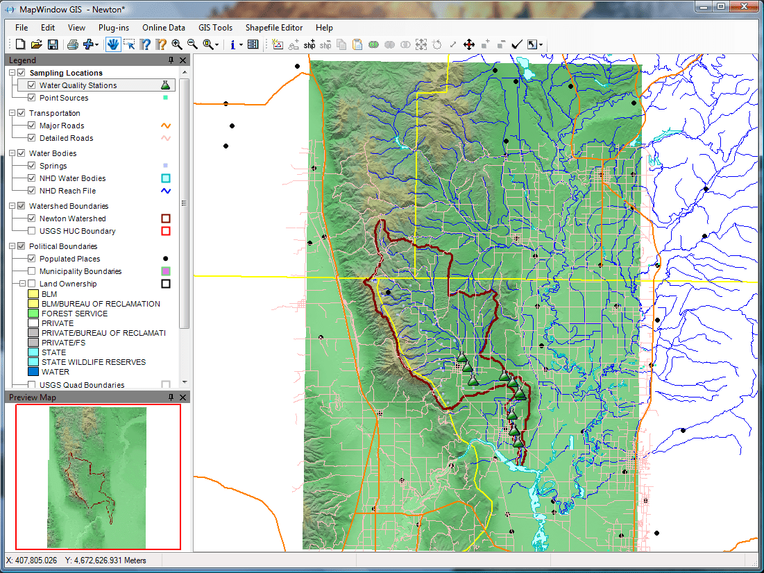 MapWindow Screenshot