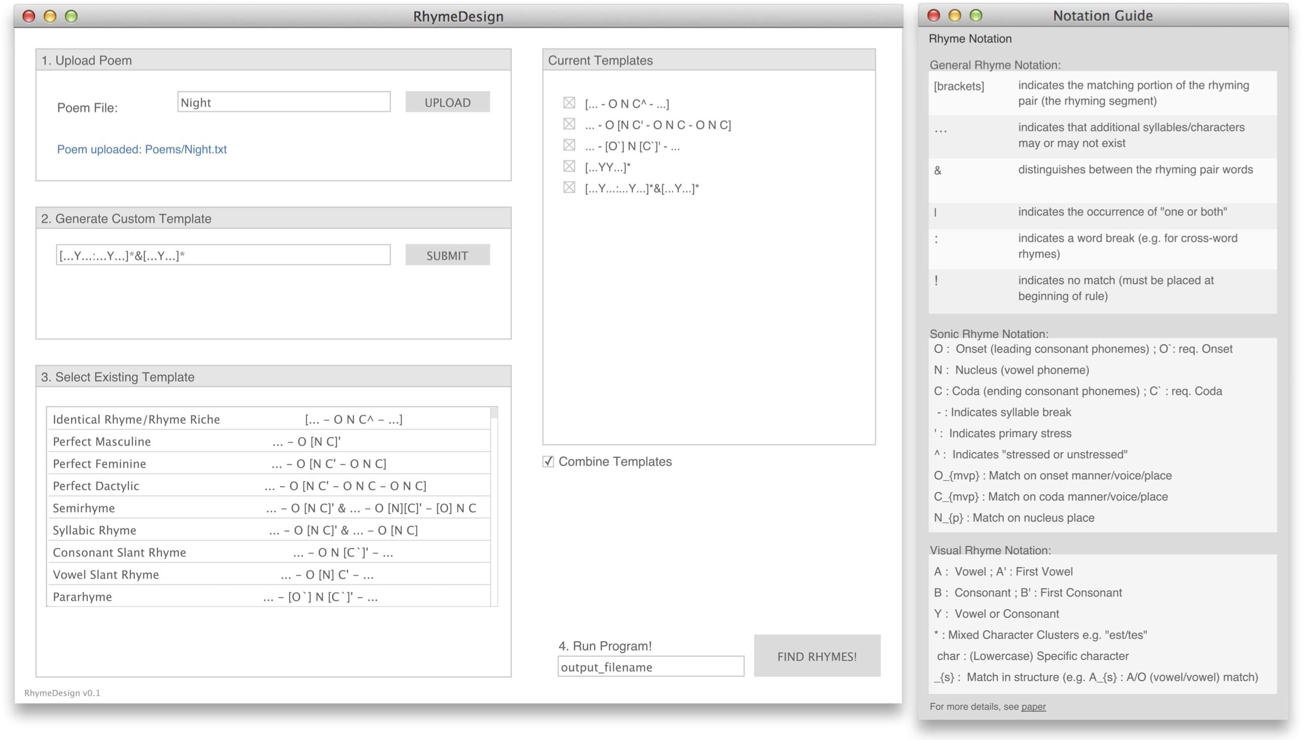 RhymeDesign Screenshot