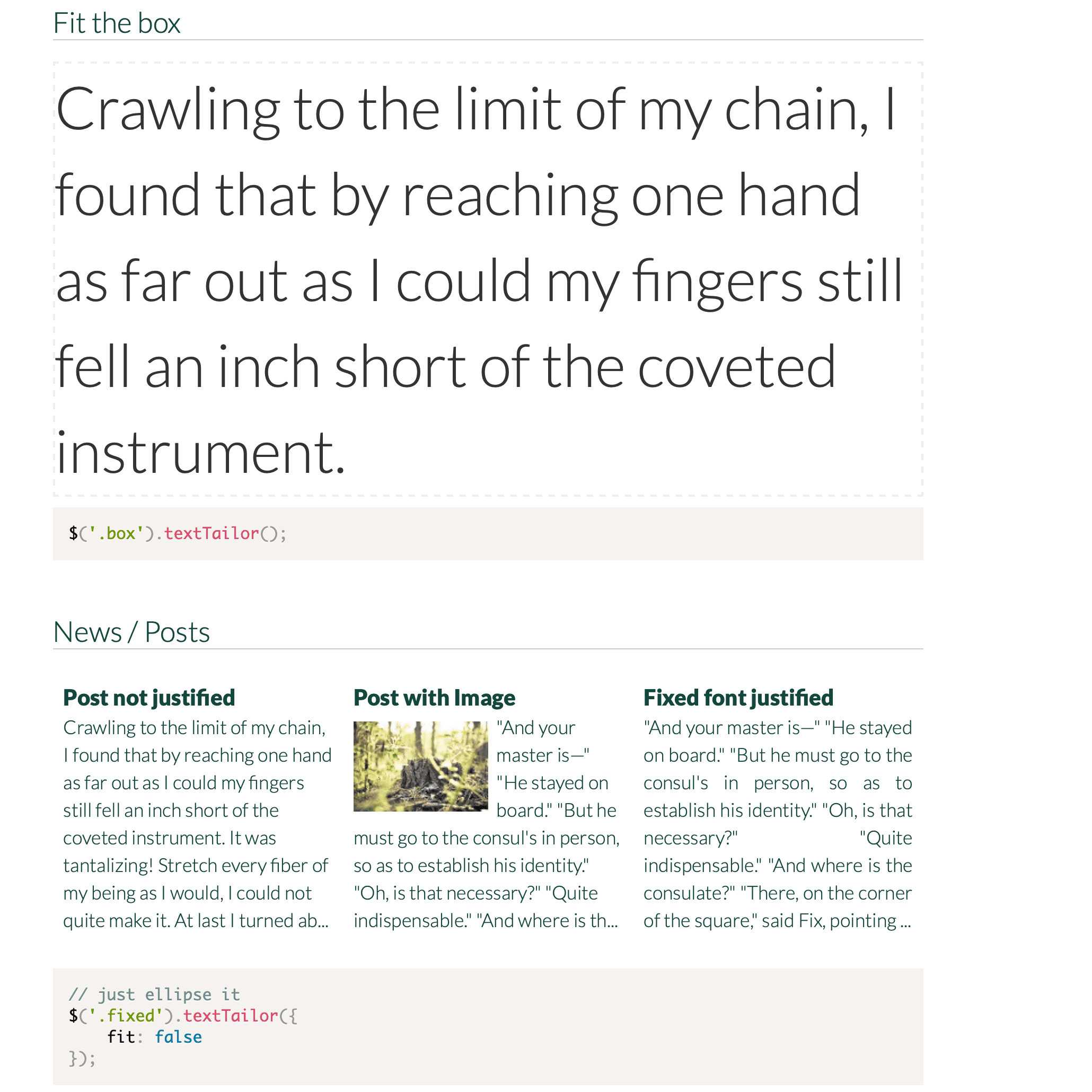 TextTailor.js Screenshot
