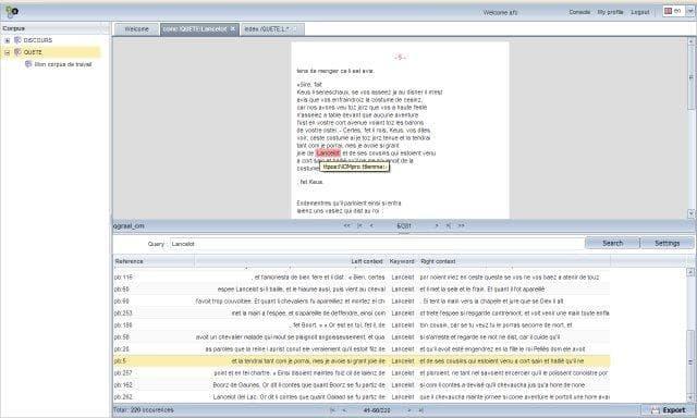 Textometry Screenshot