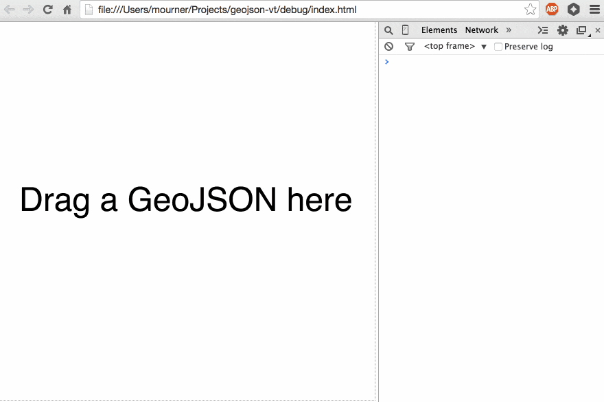 geojson-vt Screenshot