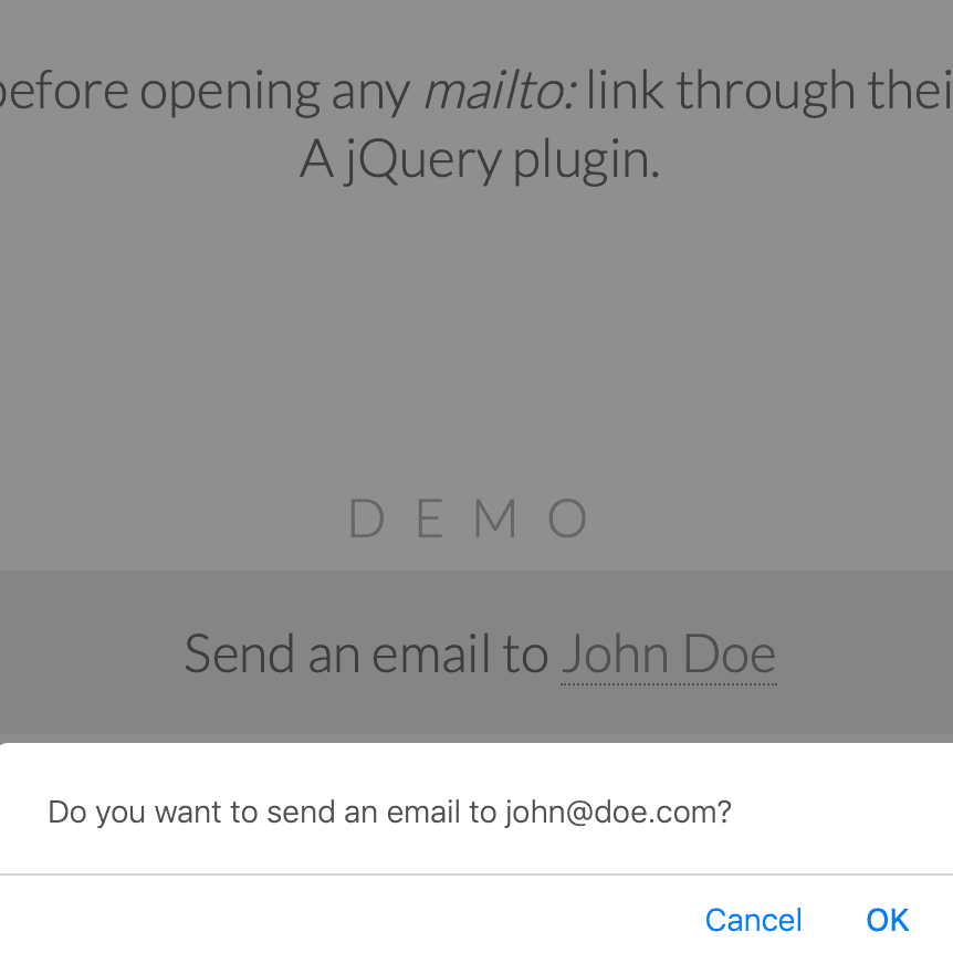 jQuery-Confirm-Mailto Screenshot