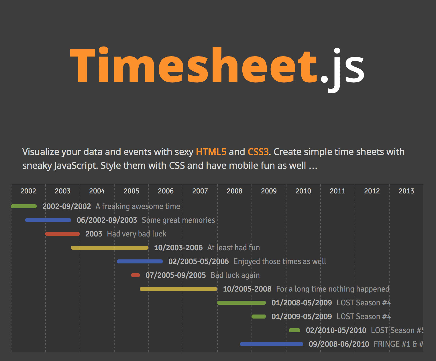 timesheet.js Screenshot