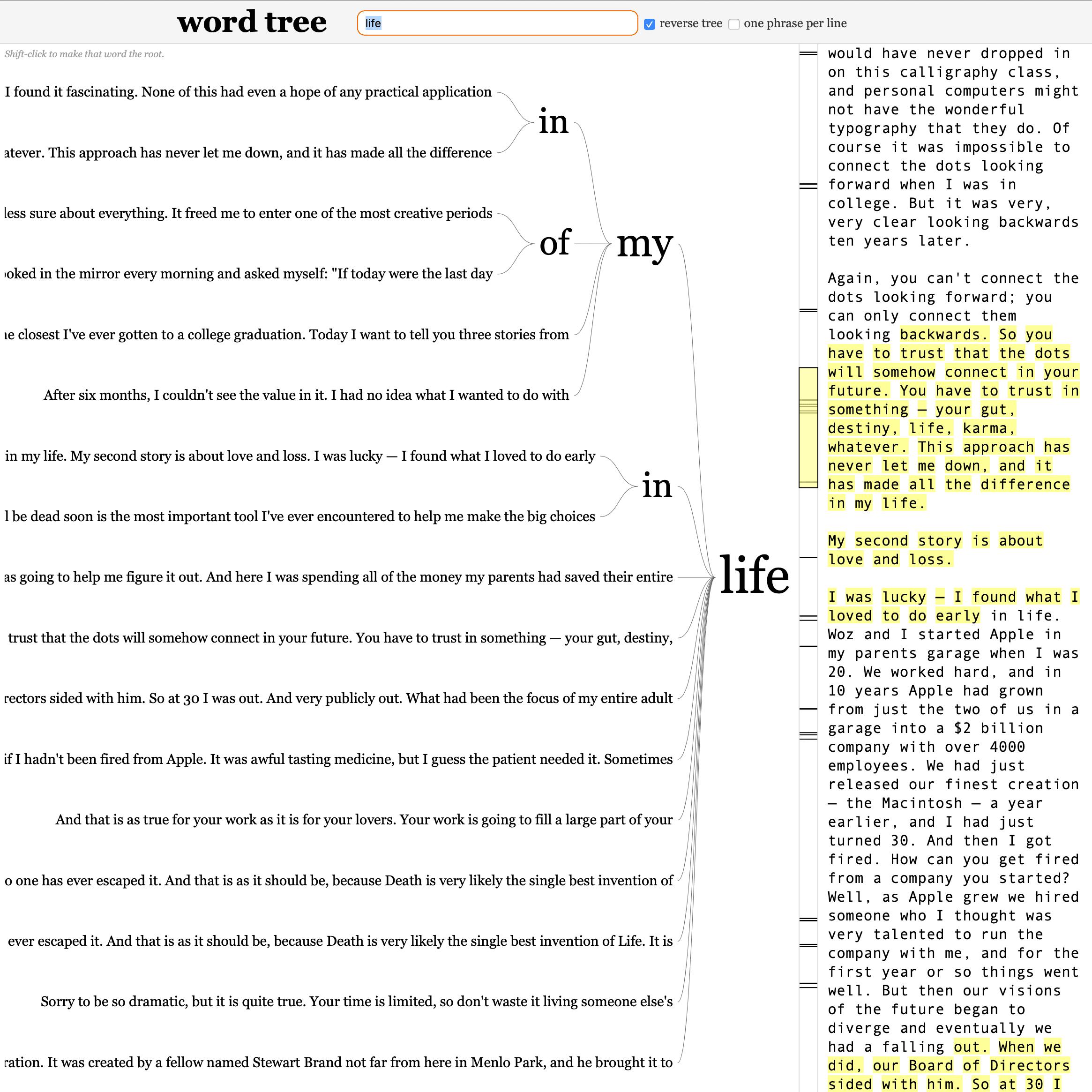 word tree Screenshot