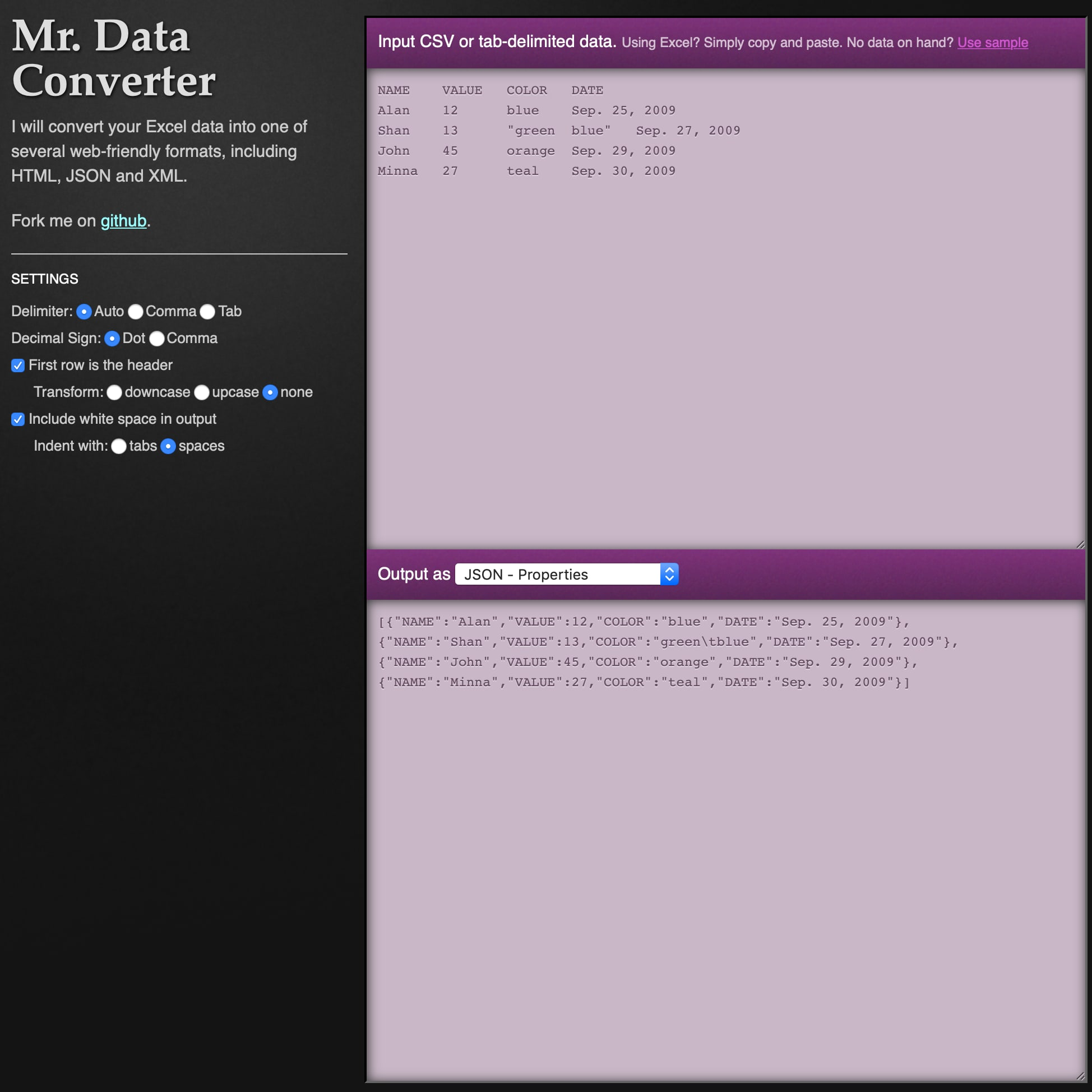 Mr. Data Converter Screenshot