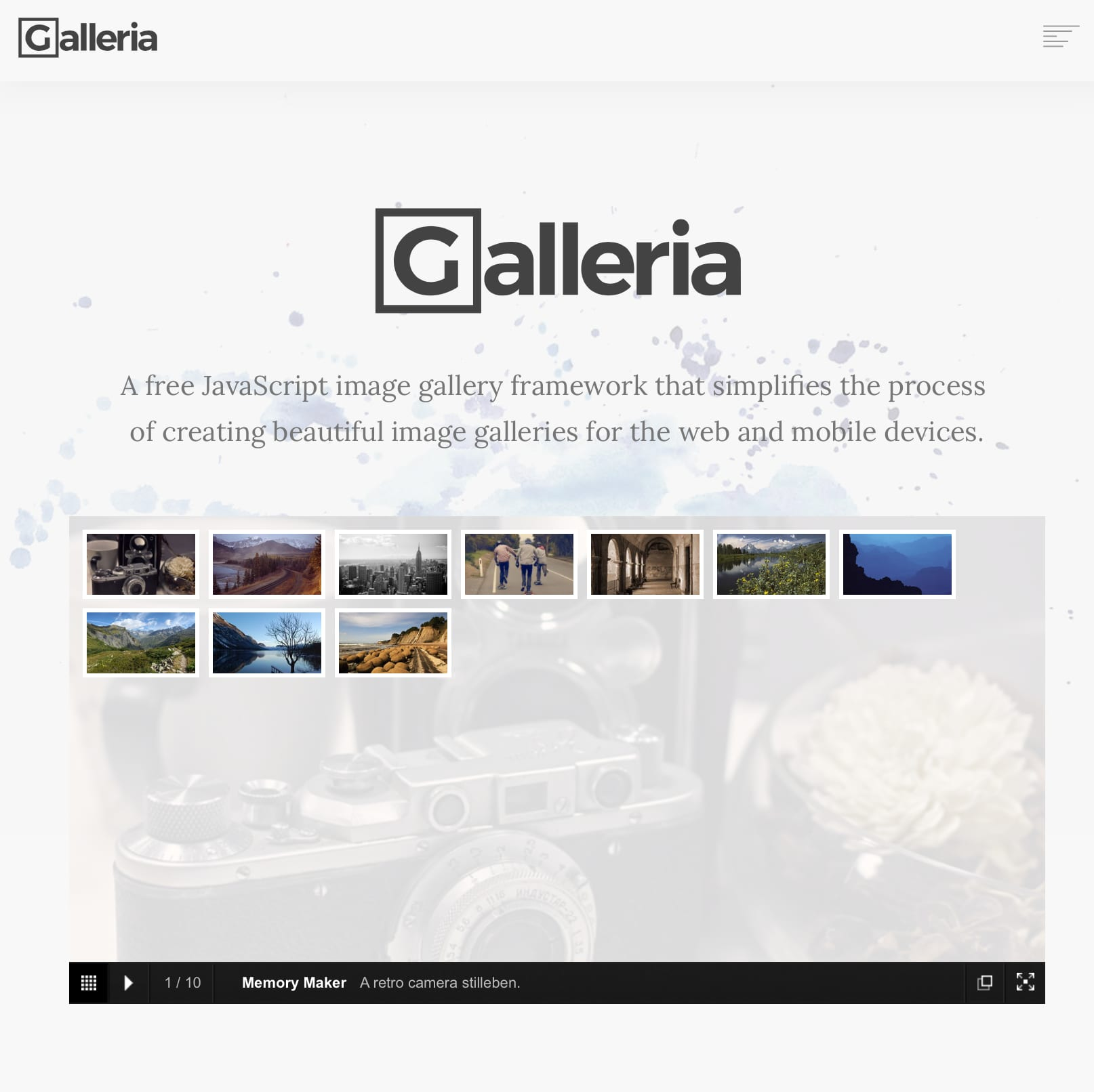 galleria.io Screenshot