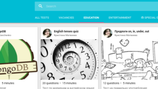 """""""IT'S QUIZ"""" - CLOUD PLATFORM FOR TESTING AND KNOWLEDGE СHECK"""