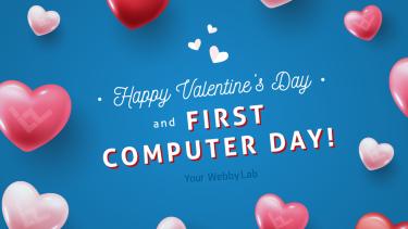 З Днем святого Валентина і Днем комп'ютерника!