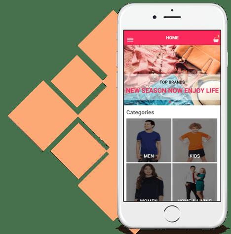Ionic Clothing Store E-Commerce Mobile App Development : Cross Platform Dev  Tools