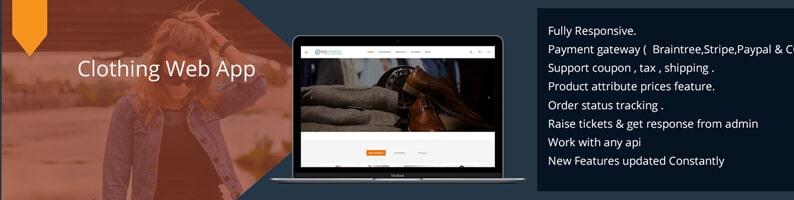 Clothing Web App | Online E-Commerce Shopping Website & Software with  Angular & Node JS API