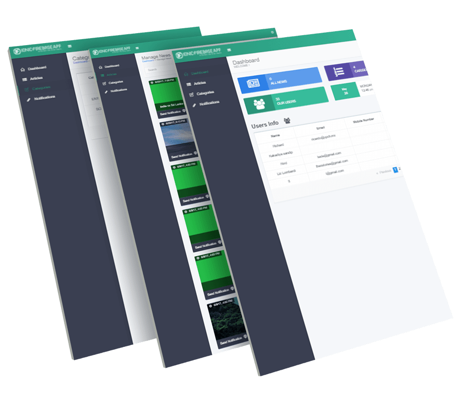 Firebase News Mobile and Web App CMS Backend | Dashboard