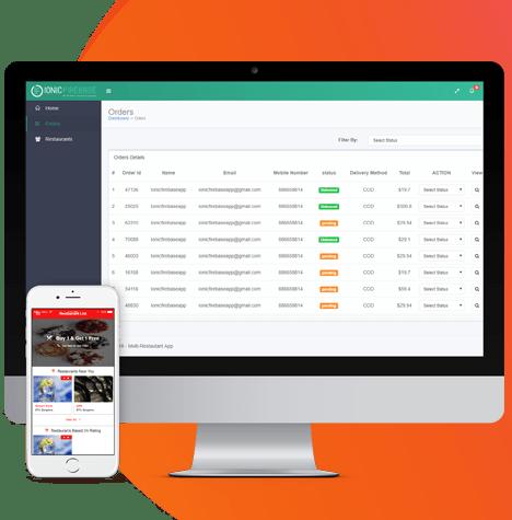 multi restaurant saas app with dashboard