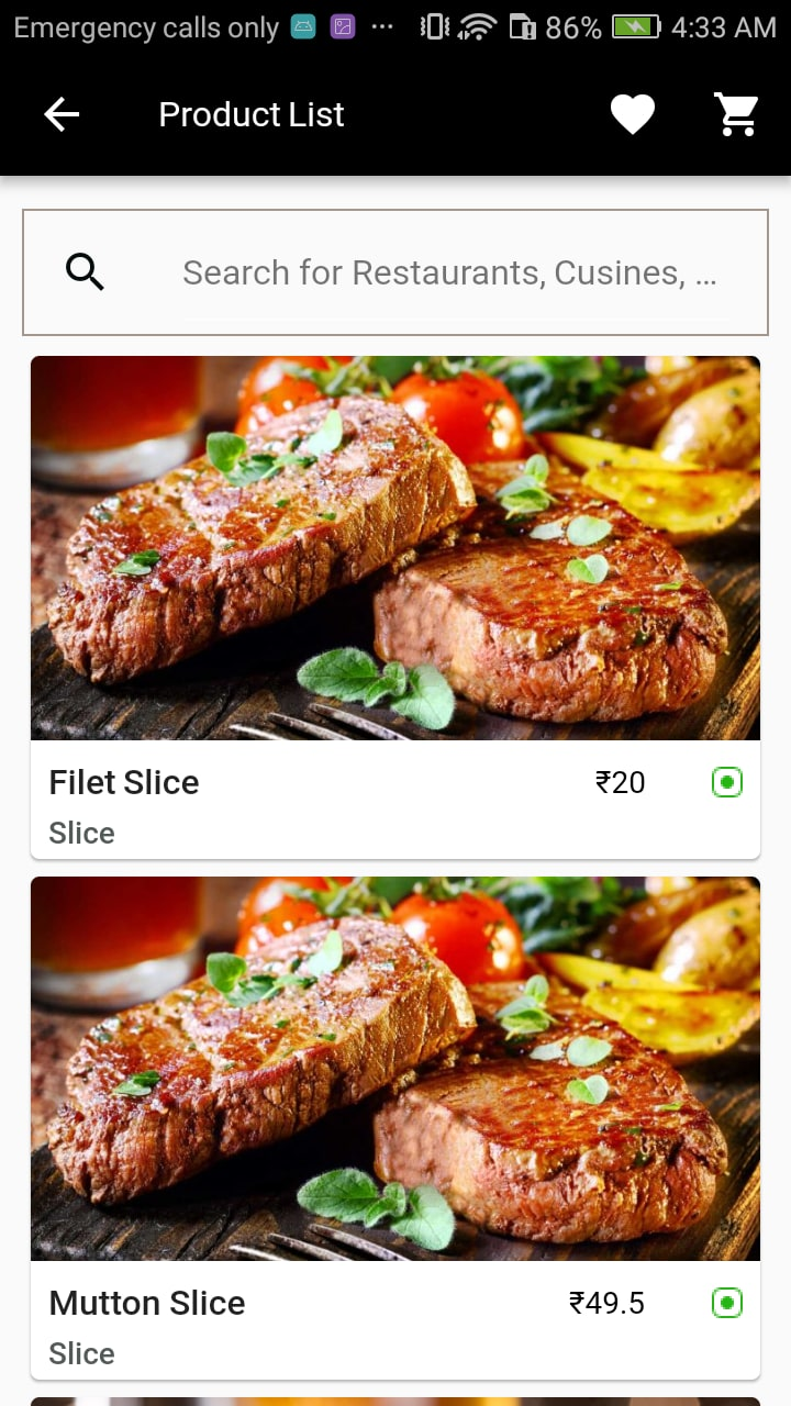 Flutter Restaurant Mobile App Theme/Template for IOS & Android