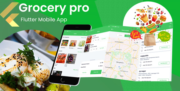 Flutter Grocery Shopping Mobile App