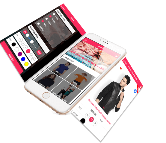 Ionic Clothing Mobile App Features