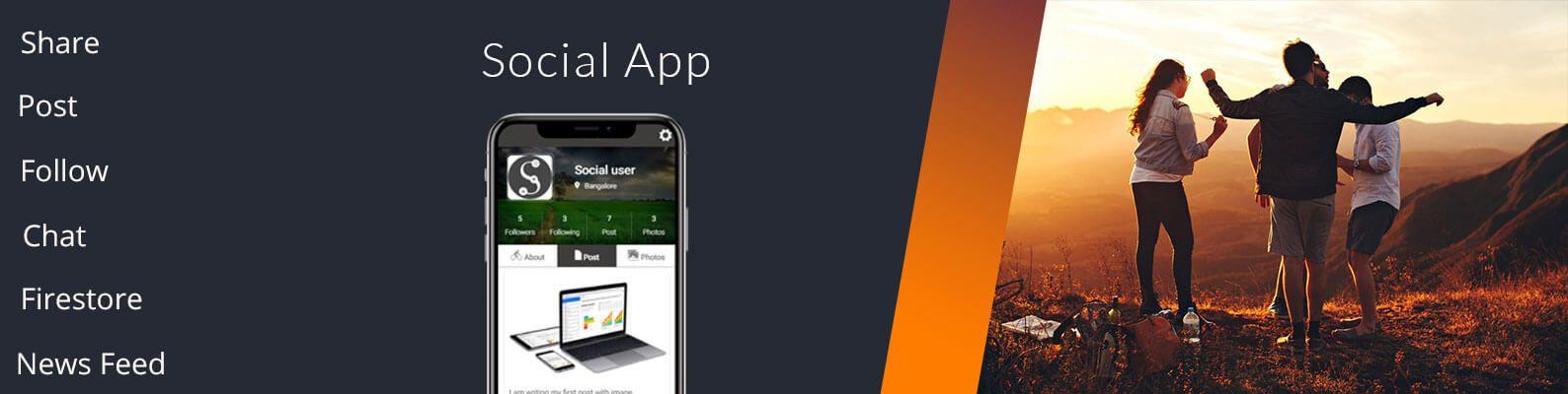 ionic firestore social app