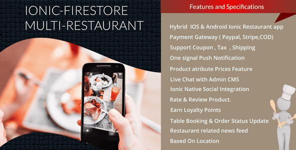Multi Restaurant mobile app
