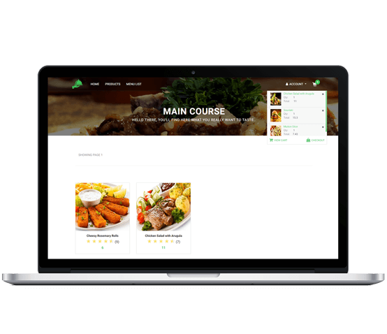 restaurant web app with node JS