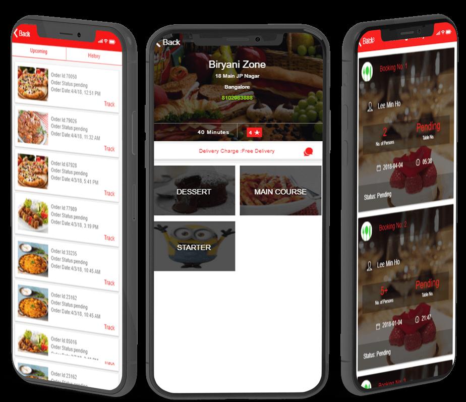 multi restaurant ionic app & dashboard