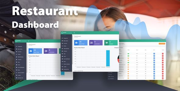node JS restaurant app dashboard