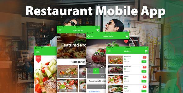 Ionic Firebase Restaurant Mobile App