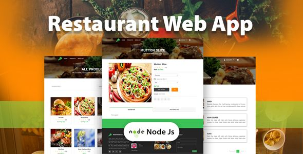 restaurant web app with node JS