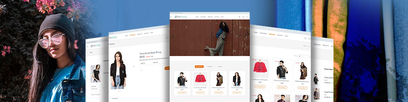 clothing web app with node JS api
