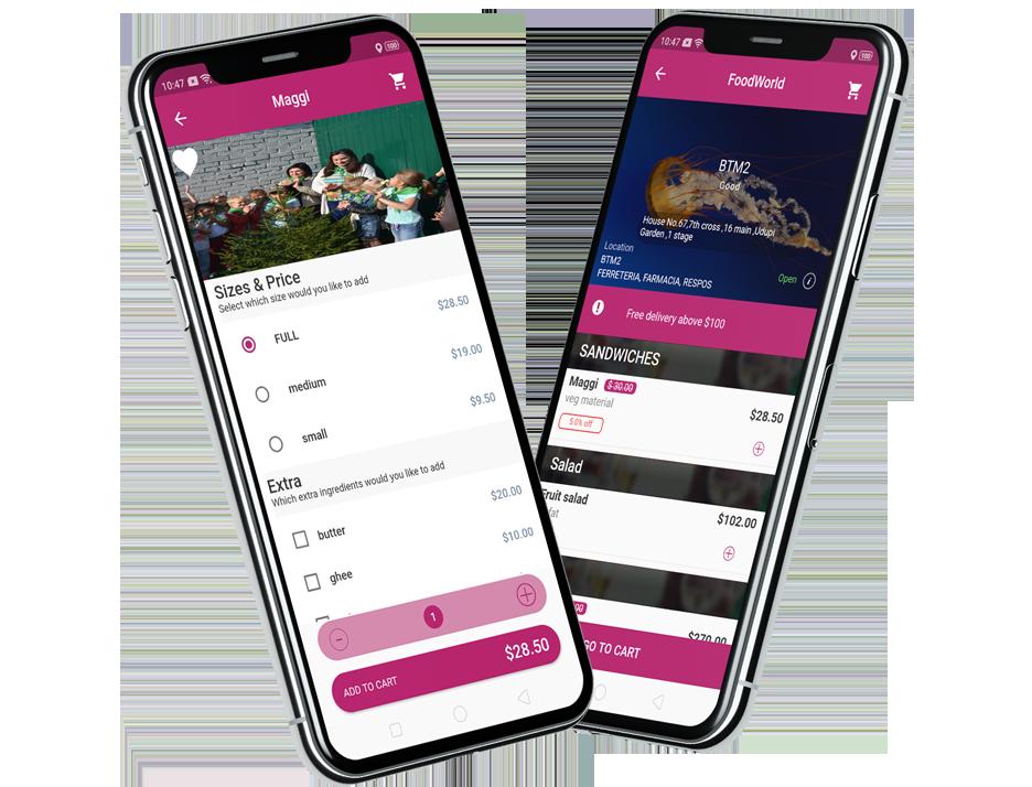 User's mobile app