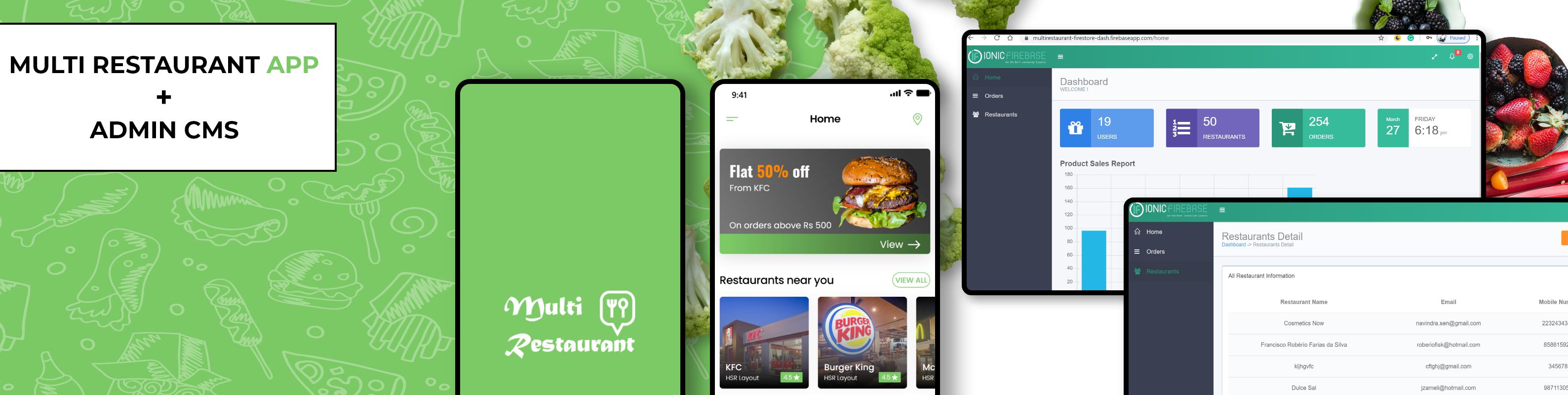 flutter multi restaurant app