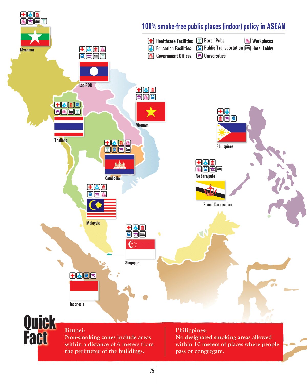 Map: Annual deaths attributed to tobacco-related diseases in ASEAN