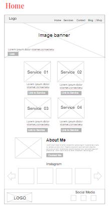 Merry Me Wedding website wireframes