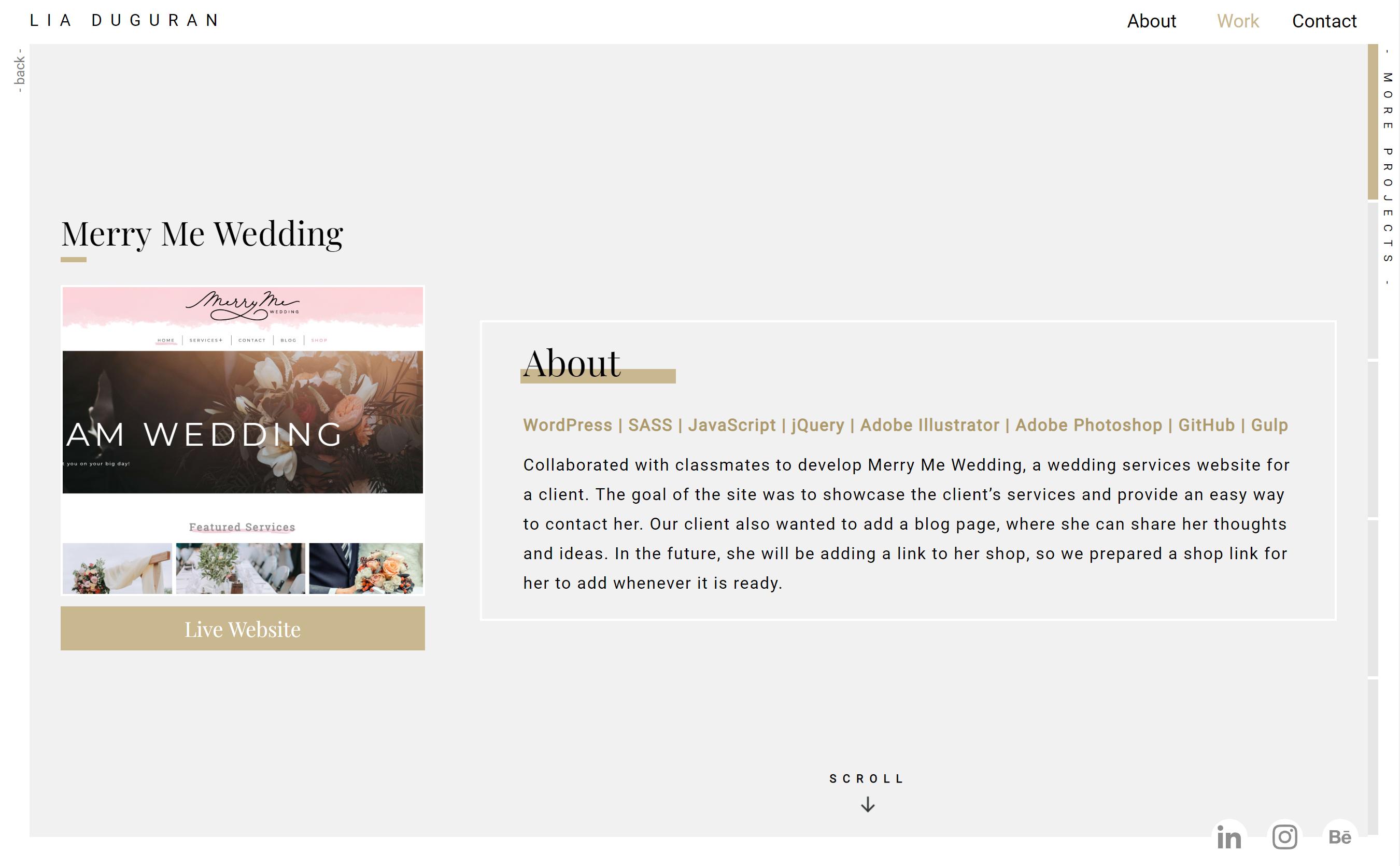 Portfolio details page