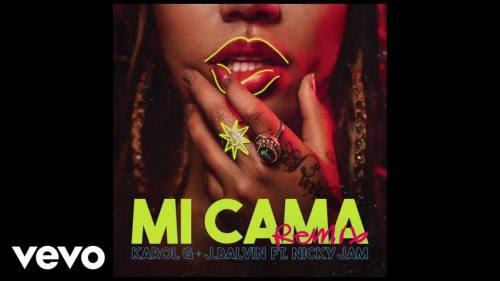 Karol G ft J Balvin y Nicky Jam - Mi Cama (Remix)   Nicky Jam