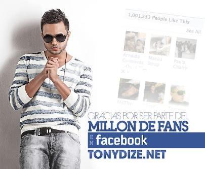 Tony Dize Aclamado Por Un Millon De Fans En Facebook   General