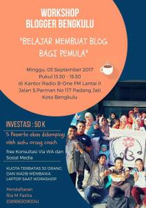 Workshop blogger Bengkulu