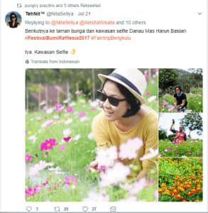 taman bunga dan kawasan selfie Danau Mas Harun Bastari @NittaSellya