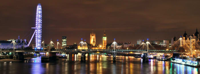 London's skyline by night