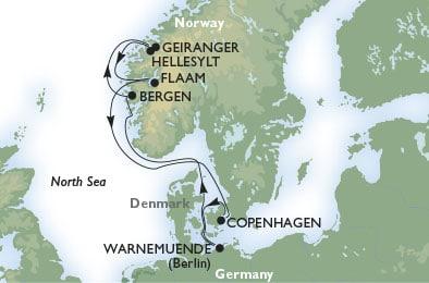 Kryssning Norska Fjordarna & Baltikum