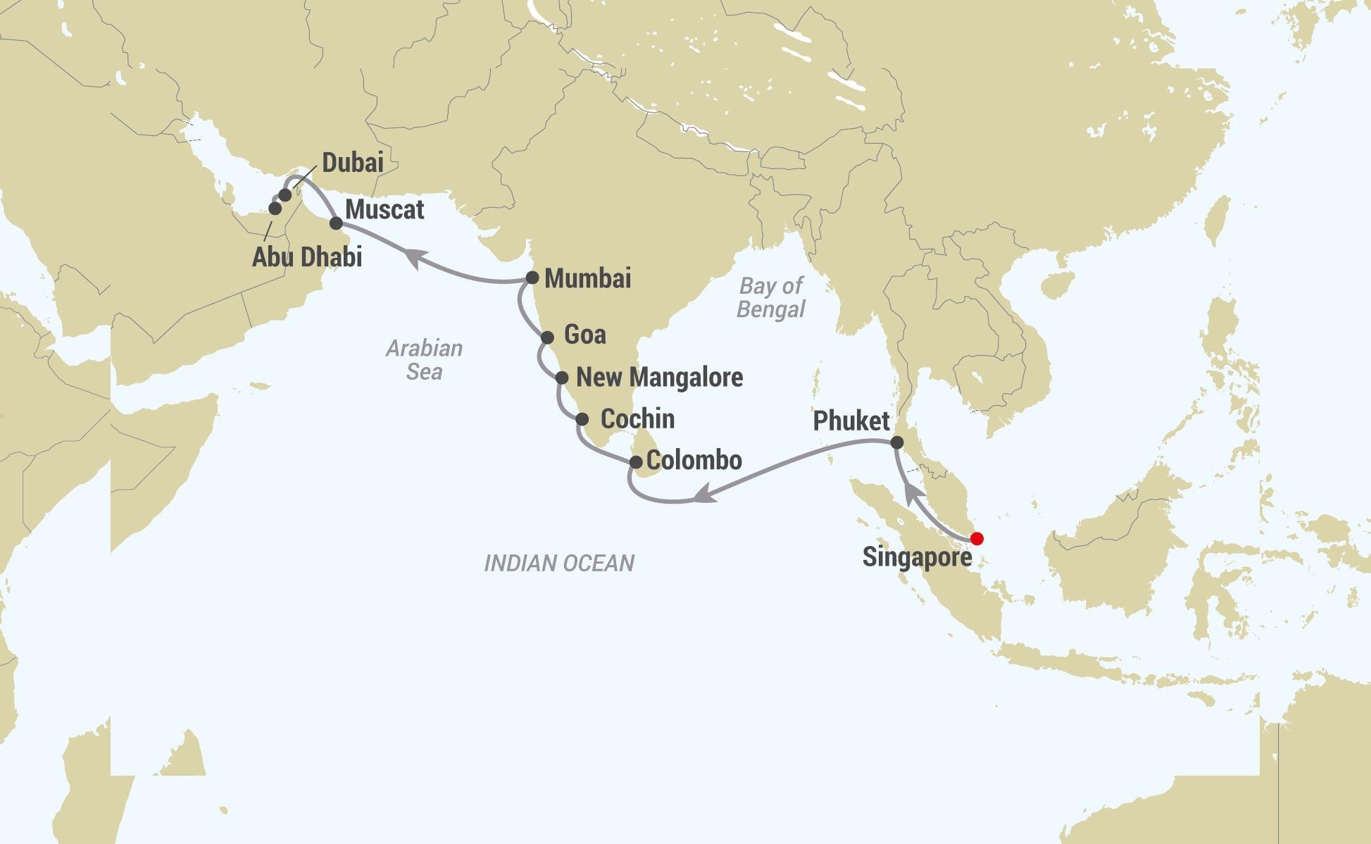 Karta Indien Aob Travel