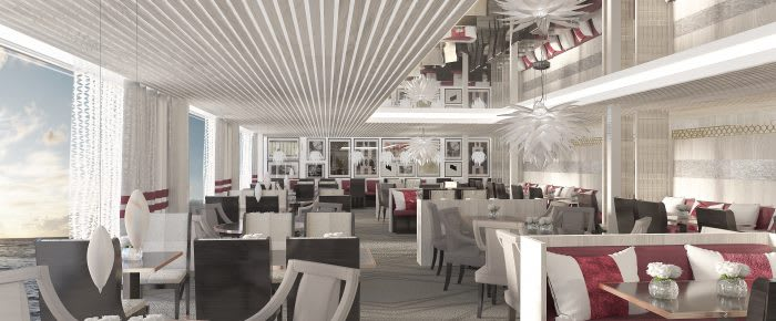 Restaurant on Celebrity Edge