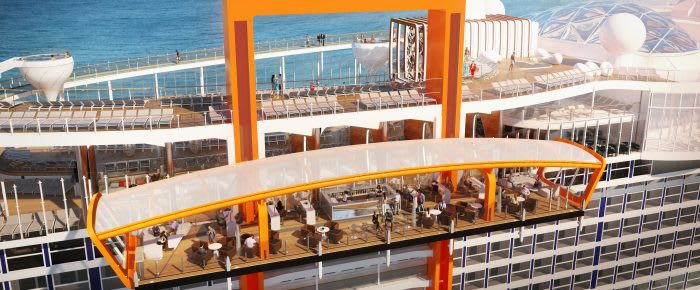 Magic carpet on Celebrity Edge